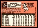 1969 Topps #362  Jim Maloney  Back Thumbnail