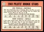 1969 Topps #394   -  Lou Piniella / Marv Staehle Pilots Rookies Back Thumbnail
