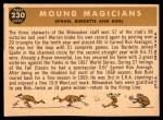 1960 Topps #230   -  Lew Burdette / Warren Spahn / Bob Buhl Mound Magicians Back Thumbnail