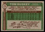 1976 Topps #178  Tom Buskey  Back Thumbnail