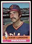 1976 Topps #21  Dave LaRoche  Front Thumbnail