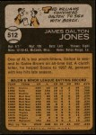1973 Topps #512  Dalton Jones  Back Thumbnail
