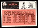 1966 Topps #479  Jim Hannan  Back Thumbnail