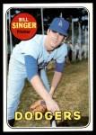1969 Topps #575  Bill Singer  Front Thumbnail