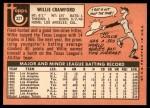 1969 Topps #327  Willie Crawford  Back Thumbnail