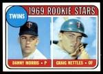 1969 Topps #99 xLP  -  Graig Nettles / Danny Morris Twins Rookies Front Thumbnail