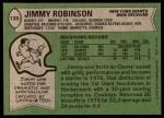 1978 Topps #139  Jimmy Robinson  Back Thumbnail