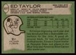 1978 Topps #227  Ed Taylor  Back Thumbnail