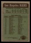 1984 Topps #276   Rams Leaders Back Thumbnail
