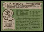 1978 Topps #246  J.K. McKay  Back Thumbnail