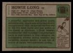 1984 Topps #111  Howie Long  Back Thumbnail