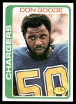 1978 Topps #279  Don Goode  Front Thumbnail