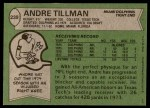 1978 Topps #239  Andre Tillman  Back Thumbnail