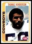 1978 Topps #213  Thomas Henderson  Front Thumbnail