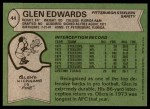 1978 Topps #44  Glen Edwards  Back Thumbnail