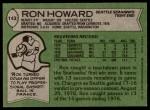 1978 Topps #143  Ron Howard  Back Thumbnail