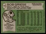 1978 Topps #120  Bob Griese  Back Thumbnail
