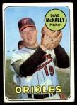 1969 Topps #340  Dave McNally  Front Thumbnail