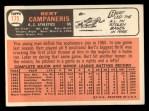 1966 Topps #175  Bert Campaneris  Back Thumbnail