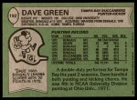 1978 Topps #192  Dave Green  Back Thumbnail