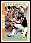 1978 Topps #277  Brian Baschnagel  Front Thumbnail