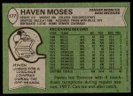 1978 Topps #177  Haven Moses  Back Thumbnail