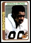 1978 Topps #73  Gerald Irons  Front Thumbnail