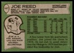 1978 Topps #147  Joe Reed  Back Thumbnail