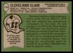 1978 Topps #170  Cleveland Elam  Back Thumbnail