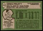 1978 Topps #245  Greg Pruitt  Back Thumbnail