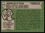 1978 Topps #280  John Dutton  Back Thumbnail