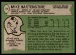 1978 Topps #72  Mike Hartenstine  Back Thumbnail