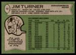 1978 Topps #12  Jim Turner  Back Thumbnail