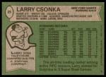 1978 Topps #25  Larry Csonka  Back Thumbnail