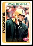 1978 Topps #303  Dave Beverly  Front Thumbnail