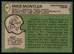 1978 Topps #83  Mike Montler  Back Thumbnail