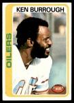 1978 Topps #37  Ken Burrough  Front Thumbnail