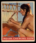 1947 Goudey Indian Gum #55   Weaving Front Thumbnail