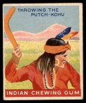 1947 Goudey Indian Gum #91   Throwing Putch-Kohu Front Thumbnail