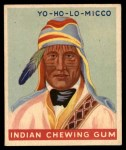 1947 Goudey Indian Gum #72   Yo-Ho-Lo-Micco Front Thumbnail