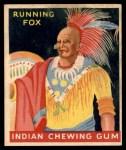 1947 Goudey Indian Gum #88   Running Fox Front Thumbnail