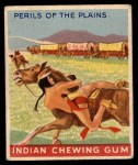 1947 Goudey Indian Gum #89   Perils Of The Plains Front Thumbnail