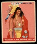 1947 Goudey Indian Gum #87   The Thinker Front Thumbnail