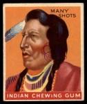 1947 Goudey Indian Gum #75   Many Shots Front Thumbnail