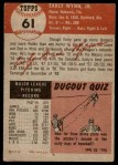 1953 Topps #61  Early Wynn  Back Thumbnail