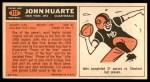 1965 Topps #117  John Huarte  Back Thumbnail