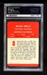 1963 Fleer #8  Dick Felt  Back Thumbnail