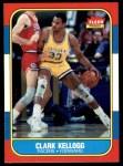 1986 Fleer #58  Clark Kellogg  Front Thumbnail