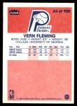 1986 Fleer #33  Vern Fleming  Back Thumbnail