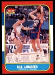 1986 Fleer #61  Bill Laimbeer  Front Thumbnail